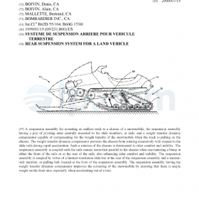 Rear suspension system for a land vehicle CA 2