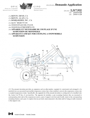 Apparatus and kit for coupling a snowmobile suspension CA