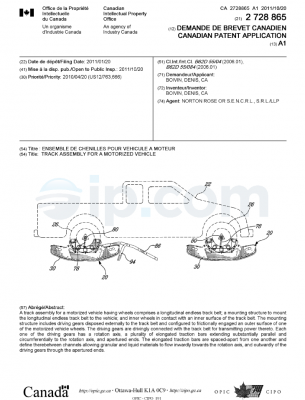 Track assembly for a motorized vehicle ca