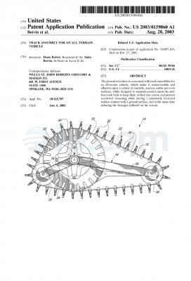 Track assembly for an all-terrain vehicle (US) 2