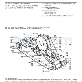 Track assembly for an all-terrain vehicle ca