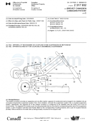 Apparatus and kit for coupling a snowmobile suspension ca 2