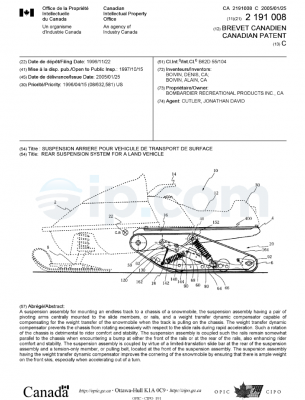 Rear suspension system for a land vehicle CA
