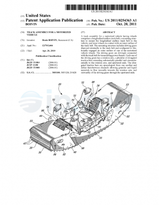 Track assembly for a motorized vehicle US